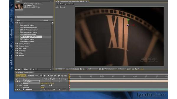 Working with Point lights: After Effects Apprentice 11: 3D Space
