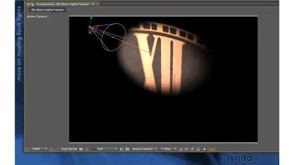 Working with Spot lights: After Effects Apprentice 11: 3D Space