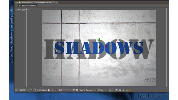 Creating shadows: After Effects Apprentice 11: 3D Space
