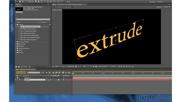 Enabling ray-traced 3D in CS6: After Effects Apprentice 11: 3D Space