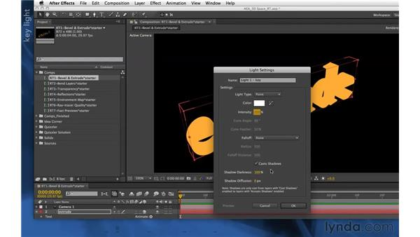 Extrusions in CS6: After Effects Apprentice 11: 3D Space
