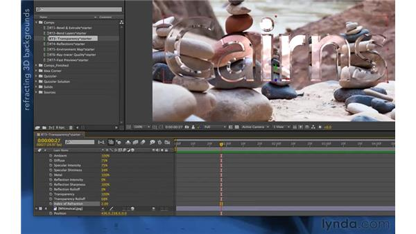 Refraction in CS6: After Effects Apprentice 11: 3D Space