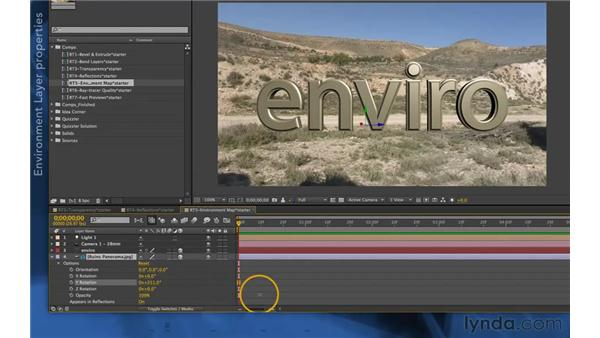 Environment layers in CS6: After Effects Apprentice 11: 3D Space