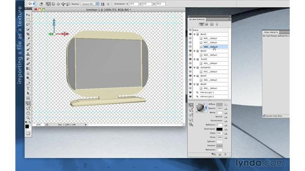 Importing a 3D model into Photoshop Extended in CS5.5 and earlier: After Effects Apprentice 11: 3D Space