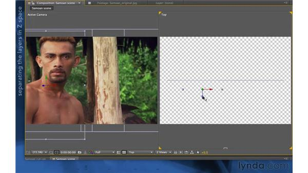 Animating the resulting layers in After Effects: After Effects Apprentice 11: 3D Space
