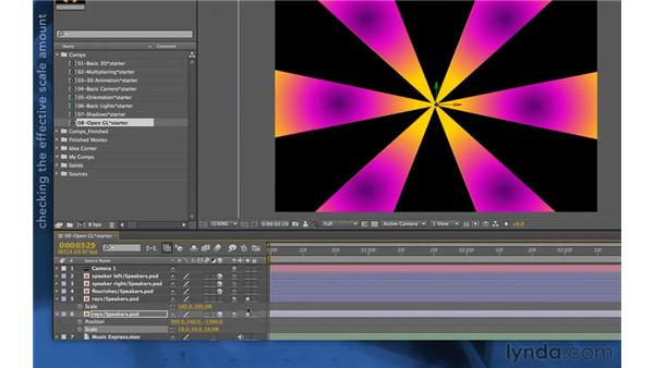 Scaling issues in 3D: After Effects Apprentice 11: 3D Space