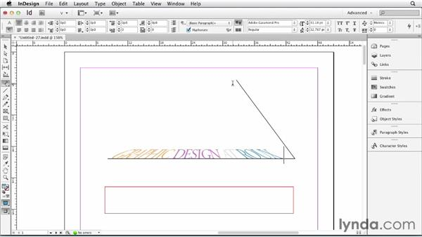 067 Using Gravity to simulate perspective: InDesign Secrets