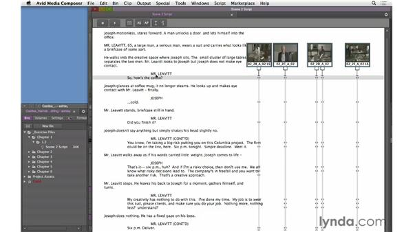 Working with digital scripts: Narrative Scene Editing with Avid Media Composer