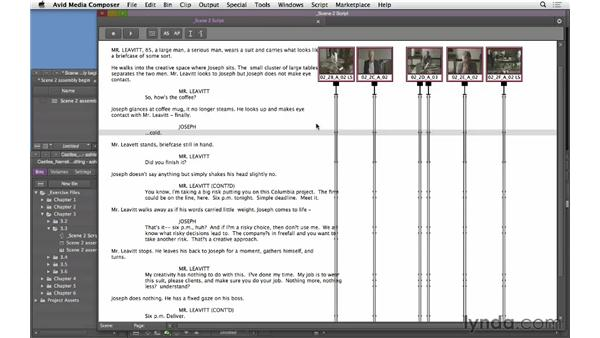 Editing dialogue: Building the basic assembly: Narrative Scene Editing with Avid Media Composer