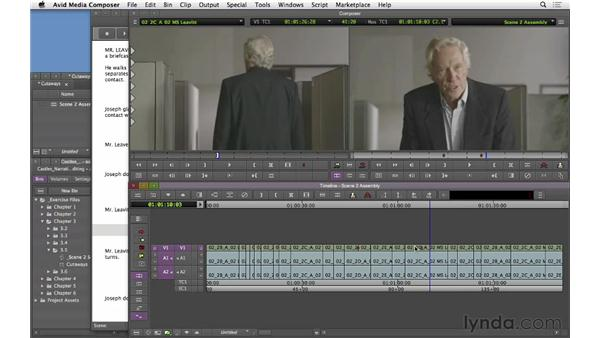 Adding cutaways and reaction shots: Narrative Scene Editing with Avid Media Composer