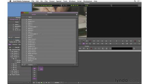 Building the montage base: Narrative Scene Editing with Avid Media Composer