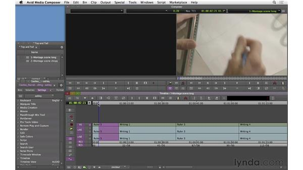 Trimming heads and tails: Narrative Scene Editing with Avid Media Composer