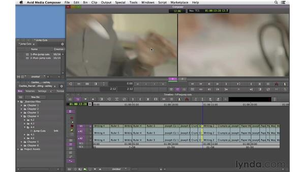 Working effectively with jump cuts: Narrative Scene Editing with Avid Media Composer