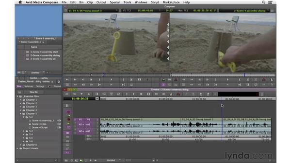 Laying down flashback scene assembly: Narrative Scene Editing with Avid Media Composer