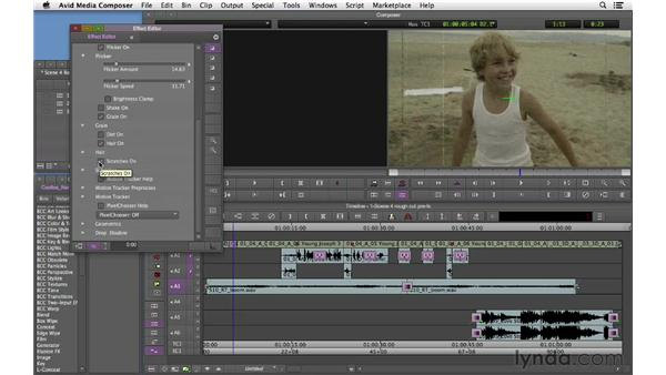 Adding effects: Narrative Scene Editing with Avid Media Composer