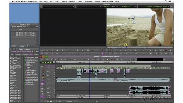 Color grading and stylizing the flashback scene: Narrative Scene Editing with Avid Media Composer