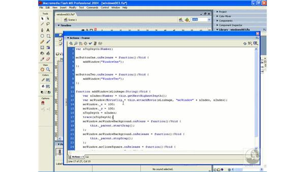 exercise: windows 3: ActionScript 2.0 Essential Training