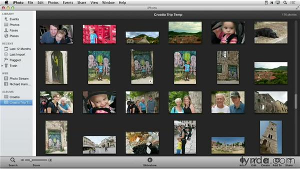 Organizing images with an album: Creating Photo Books with iPhoto