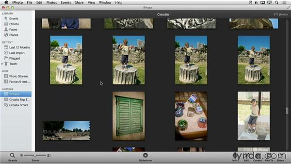 Creating a new book: Creating Photo Books with iPhoto