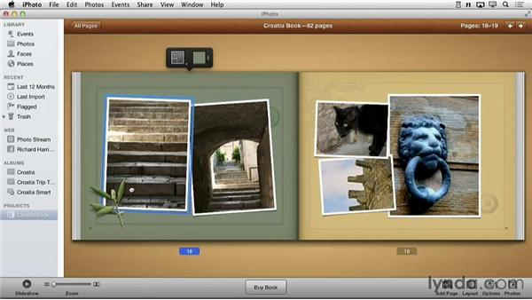 Creating the initial layout: Creating Photo Books with iPhoto