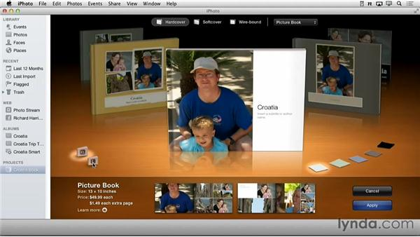 Changing a theme: Creating Photo Books with iPhoto