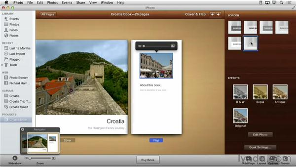 Changing the page layout with presets: Creating Photo Books with iPhoto