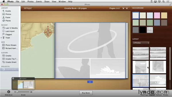 Changing page layout with the Layout pane: Creating Photo Books with iPhoto