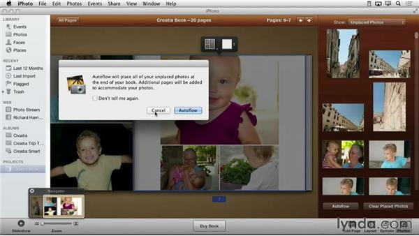 Using Autoflow: Creating Photo Books with iPhoto