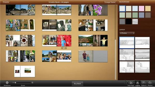 Changing the order of pages: Creating Photo Books with iPhoto