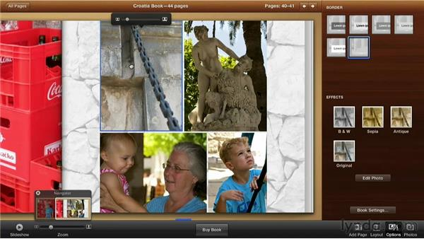 Cropping a photo: Creating Photo Books with iPhoto