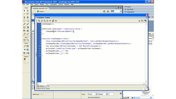 exercise: scripted masks 1: ActionScript 2.0 Essential Training