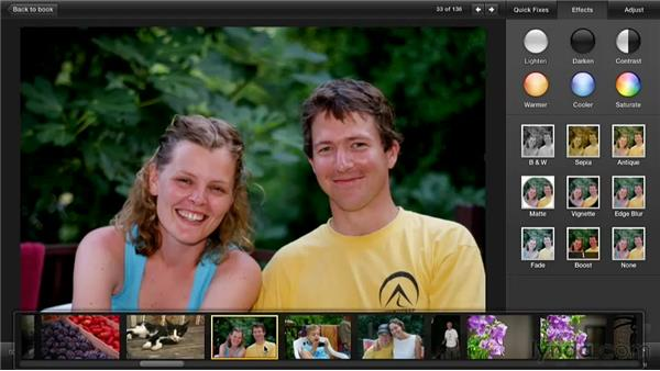 Using one-click effects: Creating Photo Books with iPhoto