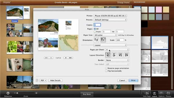 Printing a hard copy to proof: Creating Photo Books with iPhoto