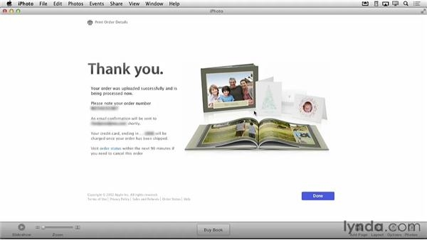 Checking the status of your order: Creating Photo Books with iPhoto