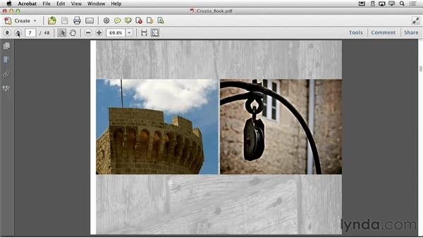 Creating a PDF of your book to email: Creating Photo Books with iPhoto