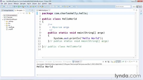 Using the Package Explorer and Navigator: Up and Running with Eclipse