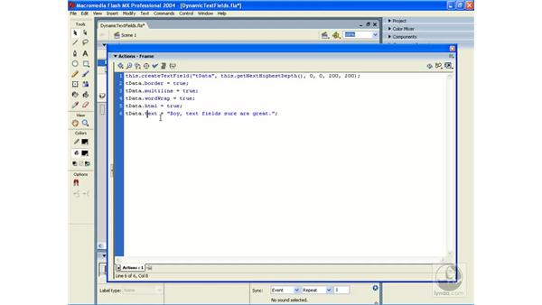 making HTML formatted text: ActionScript 2.0 Essential Training