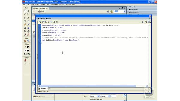 loading text: ActionScript 2.0 Essential Training