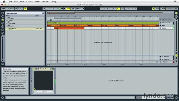 Time stretching stems and creating a sketch arrangement: Remixing Techniques: Arranging and Song Form