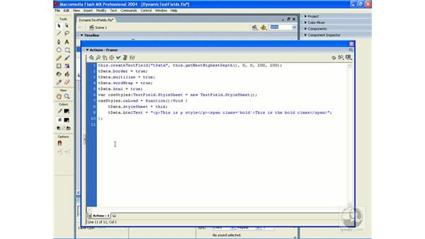 cascading style sheets 2: ActionScript 2.0 Essential Training