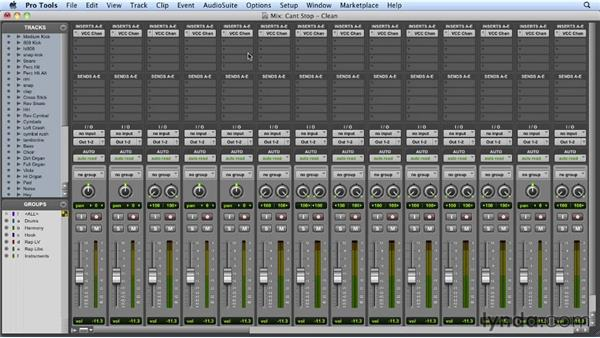 Setting up the mixer and getting initial levels: Mixing a Hip-Hop and R&B Song in Pro Tools