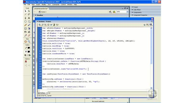 exercise: article viewer 4: ActionScript 2.0 Essential Training