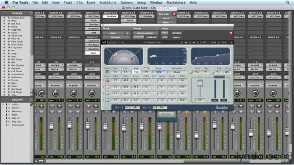 Setting up the vocal FX returns: Mixing a Hip-Hop and R&B Song in Pro Tools