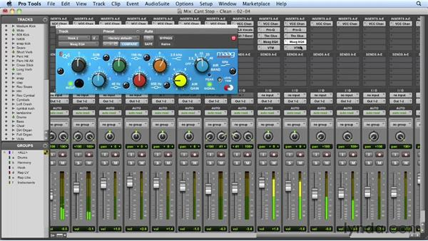 Processing the hook lead vocals: Mixing a Hip-Hop and R&B Song in Pro Tools