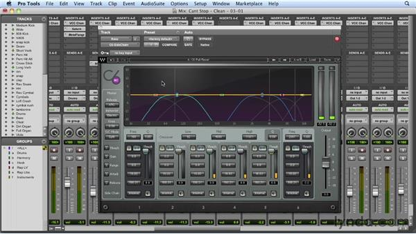 Warming up the bass tone: Mixing a Hip-Hop and R&B Song in Pro Tools