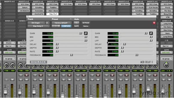 Re-creating a sampled vinyl sound for the organ: Mixing a Hip-Hop and R&B Song in Pro Tools