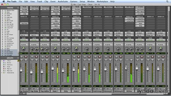 Circling back and revising the mix: Mixing a Hip-Hop and R&B Song in Pro Tools
