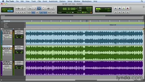 Reviewing the final master: Mixing a Hip-Hop and R&B Song in Pro Tools