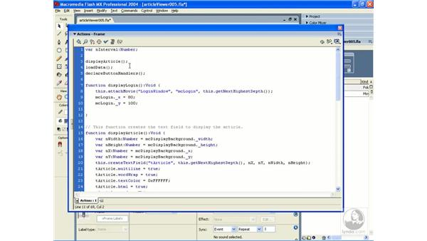 exercise: article viewer 5: ActionScript 2.0 Essential Training