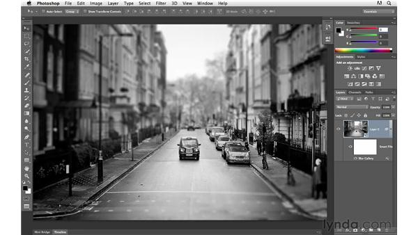Modifying still images with the Blur Gallery and Smart Filters: Photoshop CS6 for Photographers New Features